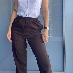 Vintage Alia Casual Brown Pants
